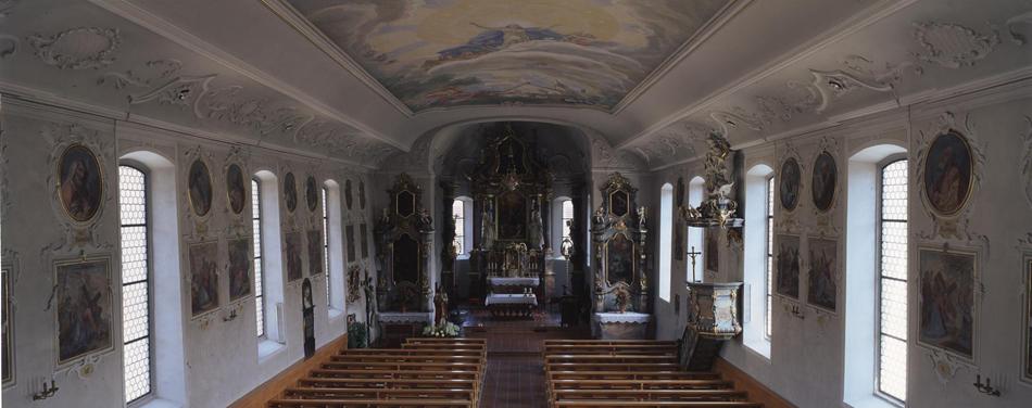 Abb. 7 Schwarzenberg, Katholische Pfarrkirche mit Freskenzyklus und Hauptaltar von Angelika Kauffmann © Bettina Baumgärtel, Archiv