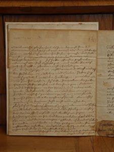 Abb. 10 Brief mit Unterschrift von Angelica Kauffman Zucchi, 1783, Privatsammlung © Foto Inken M. Holubec 2012, Bettina Baumgärtel, Archiv