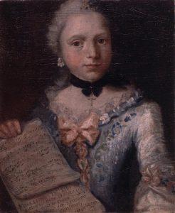 Abb. 12 Selbstbildnis als Sängerin mit Notenblatt (Detail), um 1753, Innsbruck, Tiroler Landesmuseum Ferdinandeum, Inv. Nr. Gem 303 © Foto Tiroler Landesmuseen
