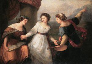 Abb. 13 Selbstbildnis am Scheideweg zwischen Malerei und Musik (Detail), 1792, Moskau, Puschkin Museum © Foto Inken M. Holubec, Bettina Baumgärtel, Archiv