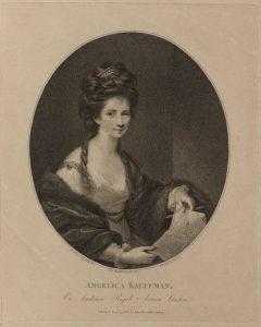Abb. 27 Francesco Bartolozzi, nach Joshua Reynolds: Bildnis Angelika Kauffmann, 1780, Punktierstich © Bettina Baumgärtel, Archiv