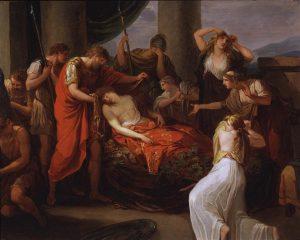 Abb. 43 G. B. Dell'Era nach Kauffmann: Aeneas trauert um den von Turnus getöteten Pallas, Evanders Sohn, New York, Kunsthandel © Bettina Baumgärtel, Archiv