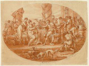 Abb. 49 A. Kauffmann abgeschrieben und Antonio Zucchi zugeschrieben: Das Bankett von Dido zu Ehren von Aeneas, 1770, Bregenz, vorarlberg museum © Bregenz, Vorarlberg Museum
