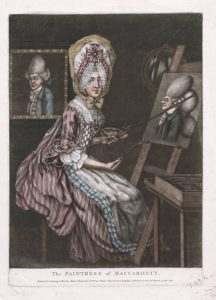 Abb. 46 Englischer Karikaturist: The Paintress of Maccaroni's, 1770, Privatsammlung © Bettina Baumgärtel, Archiv