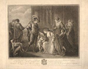 Abb. 53 W. W. Ryland, nach A. Kauffmann, Elizabeth Grey bittet Edward IV..., Punktierstich, Privatsammlung © Bettina Baumgärtel, Archiv