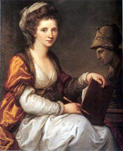 Abb. 58 Selbstbildnis mit Büste der Minerva, um 1780, Chur, Bündner Kunstmuseum © Chur, Bündner Kunstmuseum, Foto Bettina Baumgärtel, Archiv