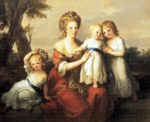 Abb. 65a Familienbildnis Mary und Joseph May mit ihren Kindern, 1780, Großbritannien, Privatsammlung © aus: Ausst. Kat. Düsseldorf 1998, S. 214-215