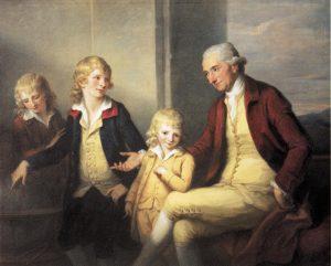 Abb. 65b Familienbildnis Mary und Joseph May mit ihren Kindern, 1780, Großbritannien, Privatsammlung © aus: Ausst. Kat. Düsseldorf 1998, S. 214-215