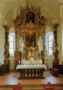 Abb. 70 Die Krönung der Hl. Maria, 1802, Schwarzenberg, Katholische Pfarrkirche © Bettina Baumgärtel, Archiv