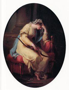Abb. 71 Penelope trauert über dem Bogen des Odysseus, 17775-78, Schweiz, Privatsammlung © Bettina Baumgärtel, Archiv