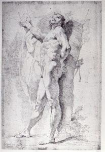 Abb. 76 A. Kauffmann, nach F. Bartolozzi: Aktstudie, 1763, Berlin, SPK, Kupferstichkabinett © Bettina Baumgärtel, Archiv