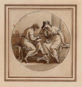 Abb. 78 Catull und Lesbia, Zeichnung, Düsseldorf, Privatsammlung © Bettina Baumgärtel, Archiv