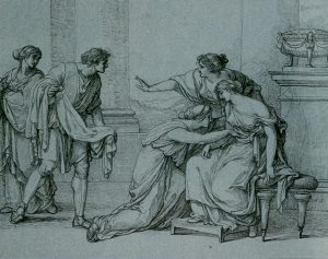 Abb. 79 Julia fällt in Ohnmacht, Zeichnung, um 1785, Wien, Albertina © Wien, Albertina, Foto Bettina Baumgärtel, Archiv