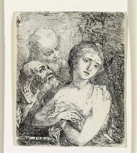 Abb. 80 Susanna und die beiden Alten, 1762/63, Radierung (BB 1 II), Bregenz, vorarlberg museum © Bregenz, vorarlberg museum