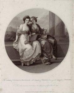 Abb. 86 F. Bartolozzi, nach A. Kauffmann: Die Zeichnung - Design, Punktierstich, 1787, Bregenz, vorarlberg museum © Bregenz, vorarlberg museum