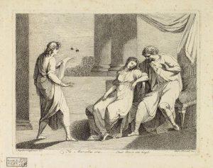 Abb. 87 D. Pernati, nach A. Kauffmann: Vergil liest aus der Aeneis August und Oktavia, die in Ohnmacht fällt, vor, Radierung, Bregenz, vorarlberg museum © Bregenz, vorarlberg museum